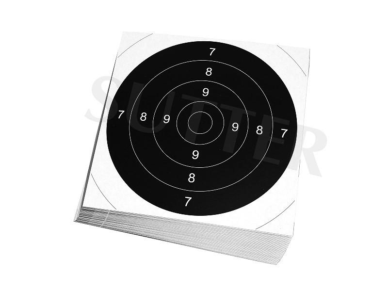 Einsteckscheiben 21x21cm für Zielscheiben (weiß) - 50er Pack