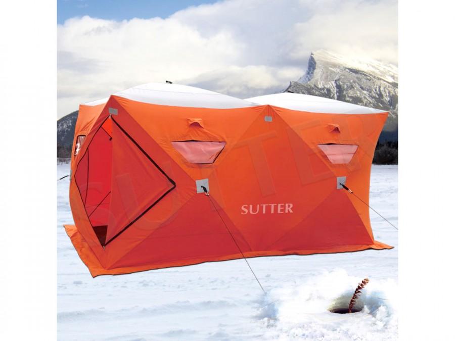 Campingzelt Outdoor Quick-Up Eiszelt 300x150cm! - für Camping o. Eisangeln - Ideal für bis zu 6 Personen