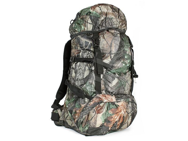 Jagdrucksack 45 Liter Tarnfarben / Outdoor Wanderrucksack Backpack B-Ware (Reisverschlussschließe von unterer Außentasche defekt)