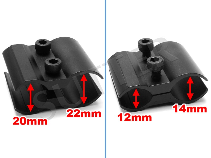 für Lampen und Zubehör Universal Montage mit zwei 21 mm Profilschienen