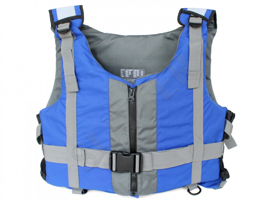 Feststoff Rettungsweste (Schwimmweste / Schwimmhilfe), 50kg - 90kg, bis 50N, blau