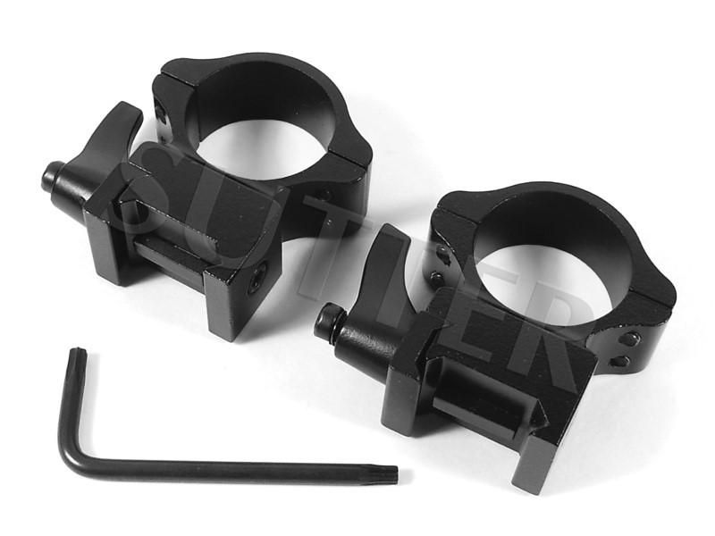PREMIUM Schnellspann-Montageringe d=25,4mm für 19-21mm *Aus Stahl*
