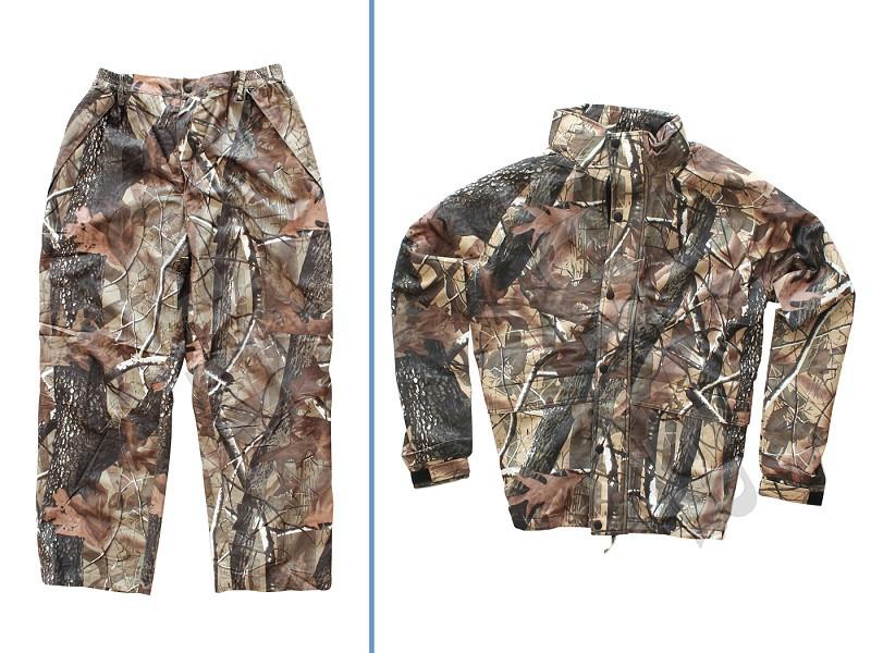 Herren Jagdhose & Jacke, gefüttert (Tarnanzug zweiteilig) Camouflage