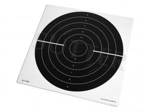 Zielscheiben 55x53cm mit Einsteckschlitzen - 20er Pack - (3/4 schwarz)