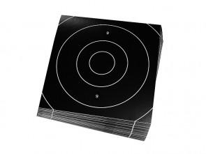 Einsteckscheiben 21x21cm für Zielscheiben (schwarz) - 50er Pack