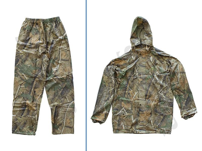 Herren Jagdhose & Jacke (Regenanzug / Tarnanzug zweiteilig) Camouflage - sehr strapazierfähig!