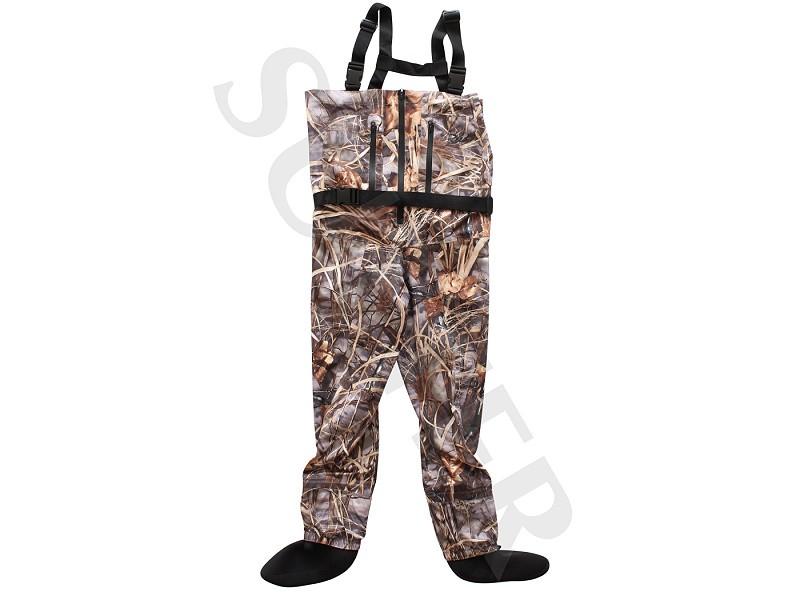 Wathose / Anglerhose, wasserdicht und atmungsaktiv, Camouflage