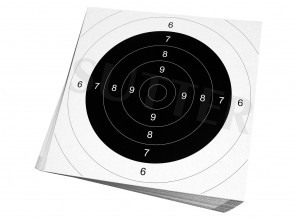 Einsteckscheiben 26x26cm für Zielscheiben (weiß) - 50er Pack