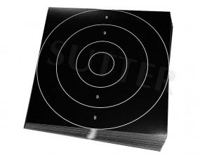 Einsteckscheiben 26x26cm für Zielscheiben (schwarz) - 50er Pack