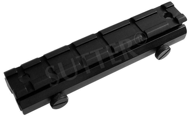 Höhenadapter Montageschiene für für 19-21 mm Weaver- und Picatinnyschiene unten und oben