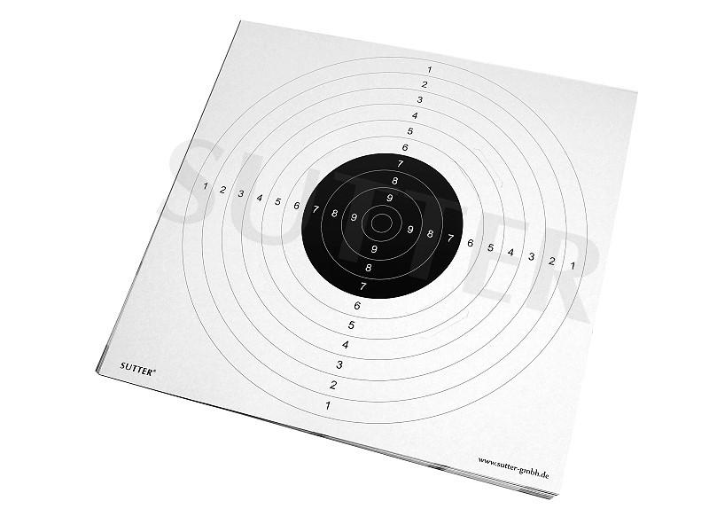 Zielscheiben 55x53cm mit Einsteckschlitzen - 20er Pack - (weiß)