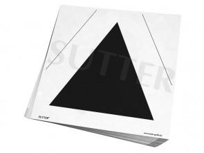 Pistolen-Ausbildungsscheiben 25/50m / Kontrollscheiben mit schwarzem Dreieck / Zielscheiben 26x26cm / 50er Pack