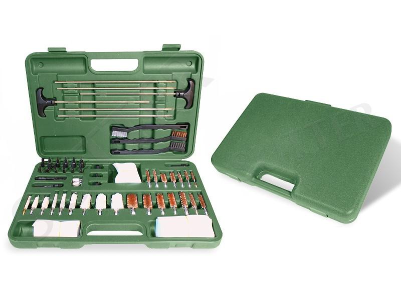 Großes Premium Waffen Reinigungsset in stabilem grünen Koffer