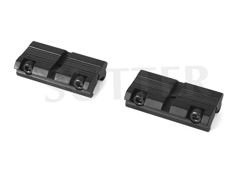 Zweiteilige Adapterschiene 11-13mm auf 21mm Multiadapter, Adapter Schiene 11-13mm auf 19-21mm