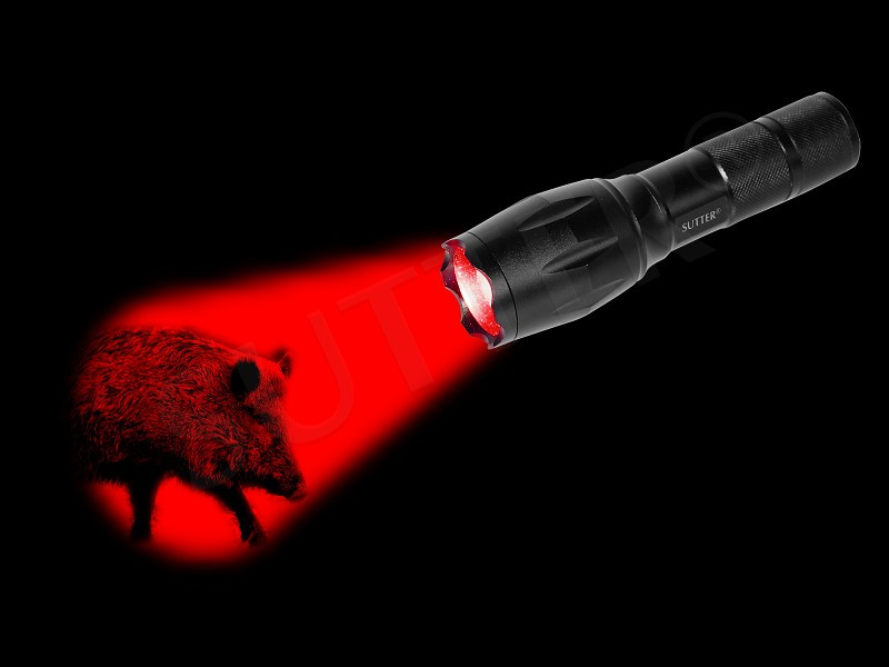 Starke LED Jagd Taschenlampe mit ROT-Brenner 2000LM ZOOM