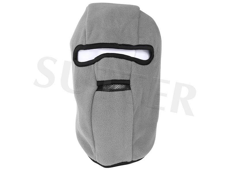 Kopfhaube Sturmhaube & Vollgesichtsmaske (Fleece) - Grau