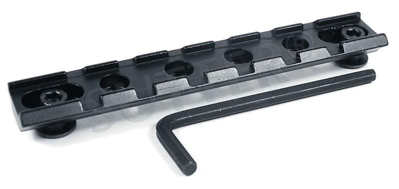 Stabile Universal Adapterschiene und Montageschiene für 19-21mm Weaver- und Picatinnyschiene