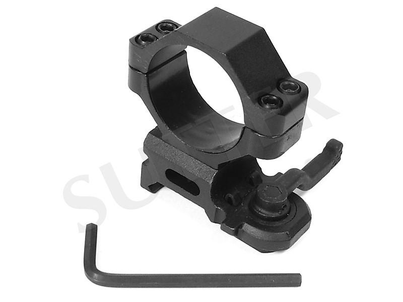 Schnellspann-Montagering d=30mm für 19-21mm Weaver- und Picatinnyschiene aus Stahl