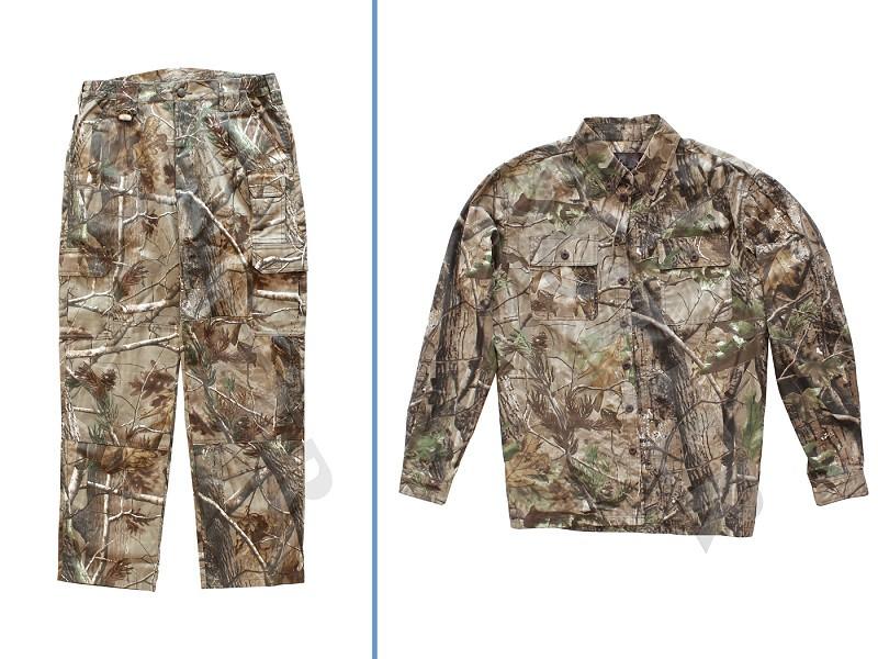 Herren Jagdhose & Jacke (Tarnanzug zweiteilig) Camouflage